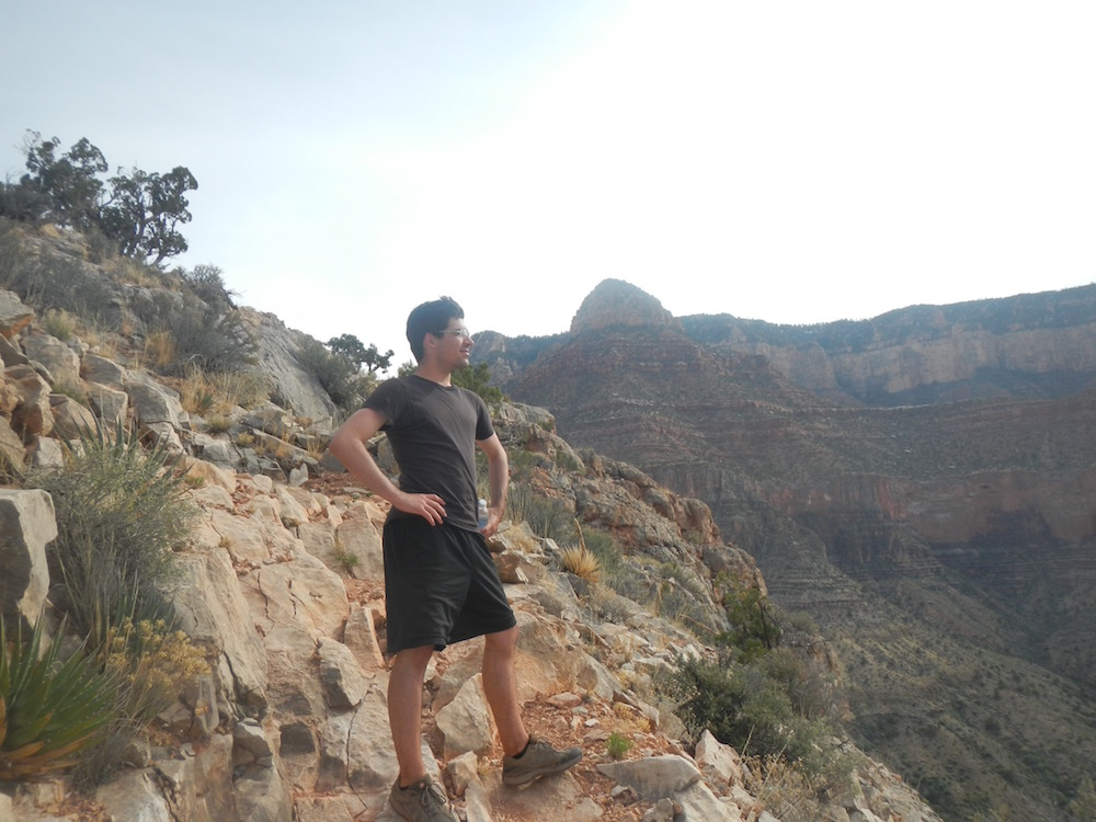 Brett at the tail end of a backpacking trip through Grand Canyon!